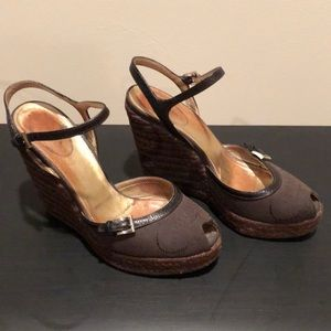 Authentic Prada Brown Wedges size 6.5
